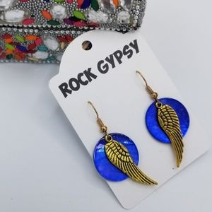 Rock Gypsy angel wing earrings
